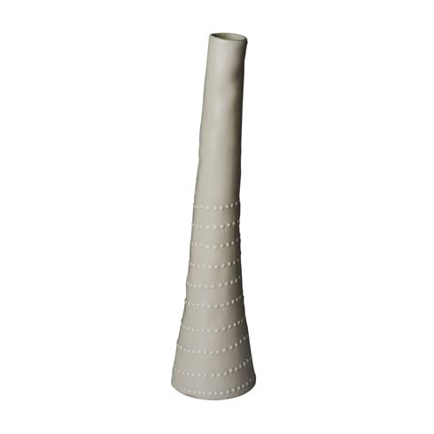 $53.00 Bud Vase, Off White with Dots