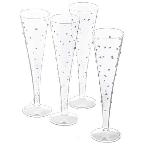 Abigails  La Boheme Flute, Small Dots, Set Of 4 $86.00