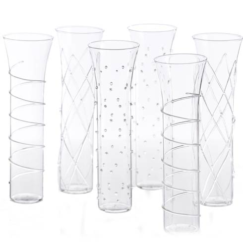 $94.00 Stemless Flutes, Clear, Set Of 6