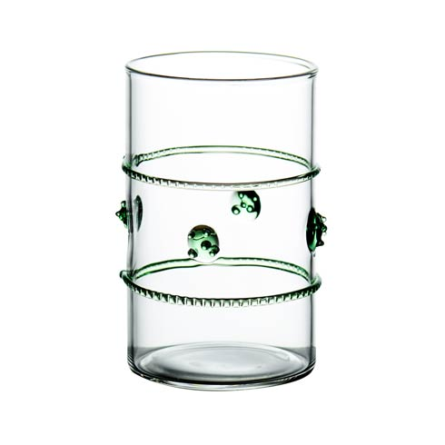 $12.00 Clear Votive with Green Rope
