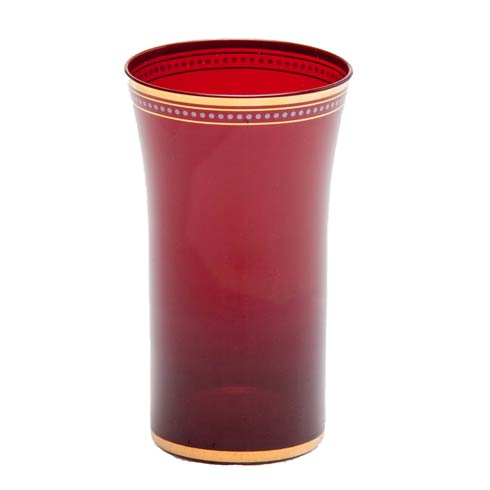$103.00 Red Glass With Gold Trim, Set Of 4
