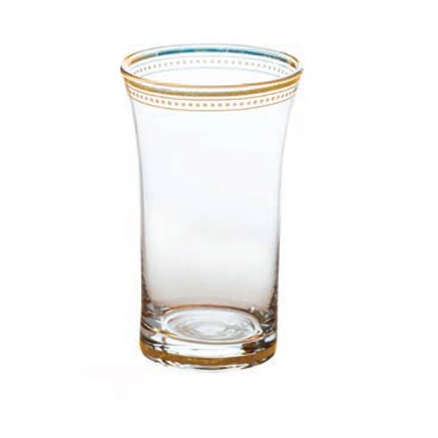 $91.00 Clear Glass With Gold Trim, Set Of 4