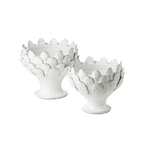 $86.00 White Artichoke Footed Centerpiece, Small