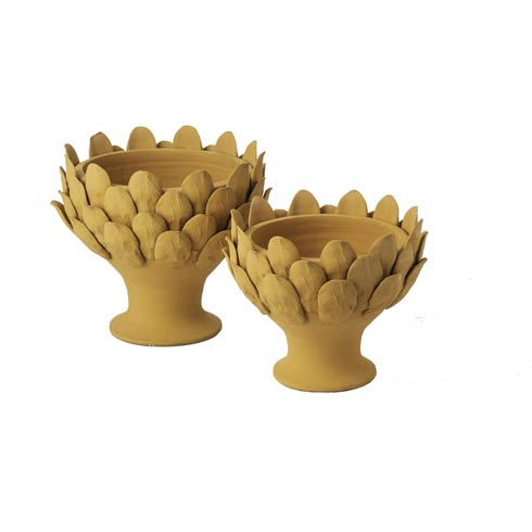 $82.00 Terracotta Artichoke Footed Centerpiece, Small