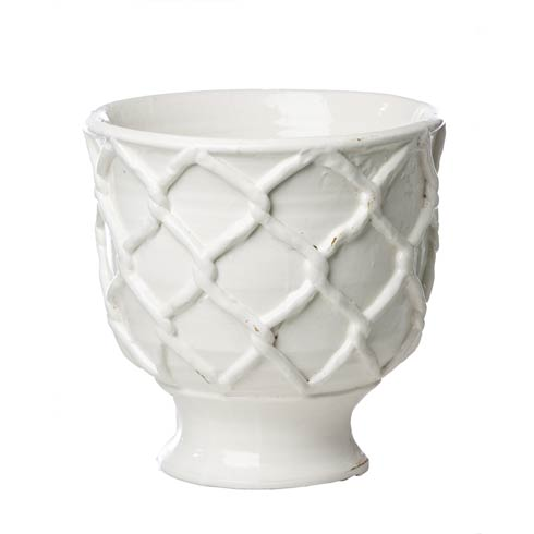 Criss Cross Planter, White, Large