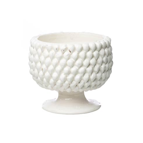 $158.00 White Pinecone Planter, Small