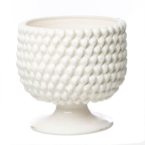 White Pinecone Planter, Large