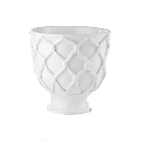 $106.00 Criss Cross Planter, White, Small