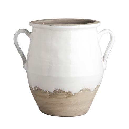 $353.00 Two-Handled Jar, White/Natural