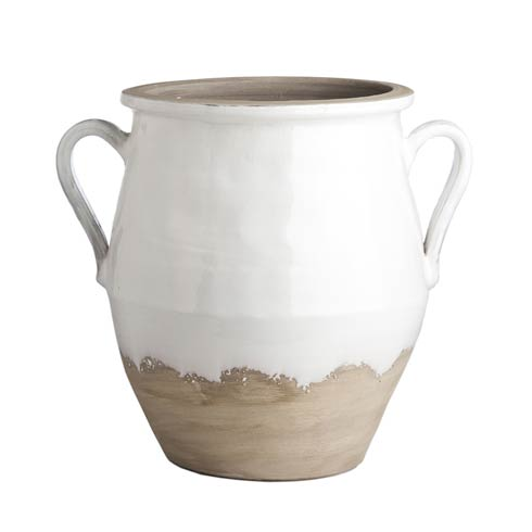 $353.00 Two-Handled Jar, White/Natural