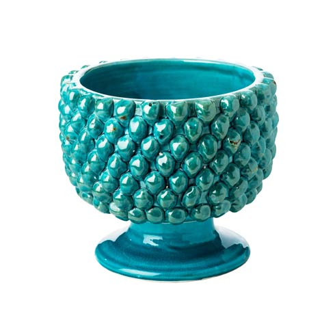 $151.00 Pinecone Planter, Turquoise, Small