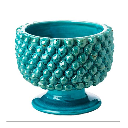 $228.00 Pinecone Planter, Turquoise, Large
