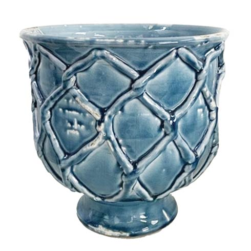 $175.00 Criss Cross Planter, French Blue, Large