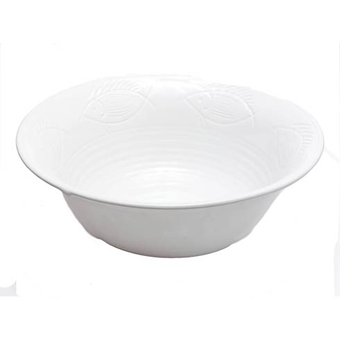 $46.00 Fish Serving Bowl, White