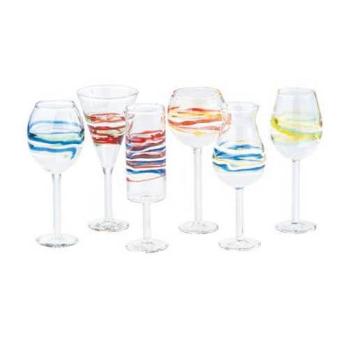 $46.00 Assorted Liqueur Glasses, Set Of 6