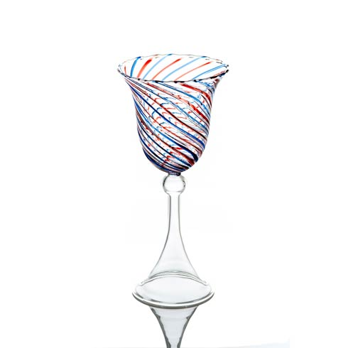 Water Glass, Red/Blue Swirl, Set Of 4 collection with 1 products