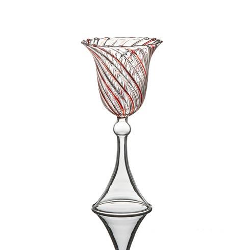 $43.00 Water Glass, Red Swirl, Set Of 4