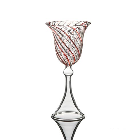 $43.00 Water Glass, Red Swirl, Set Of 4