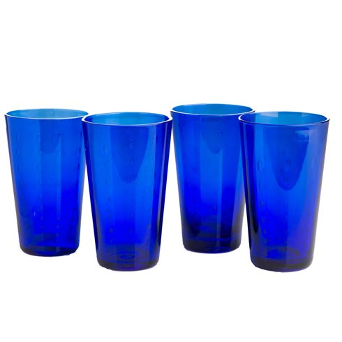 $62.00 Highball, Blue, Set Of 4
