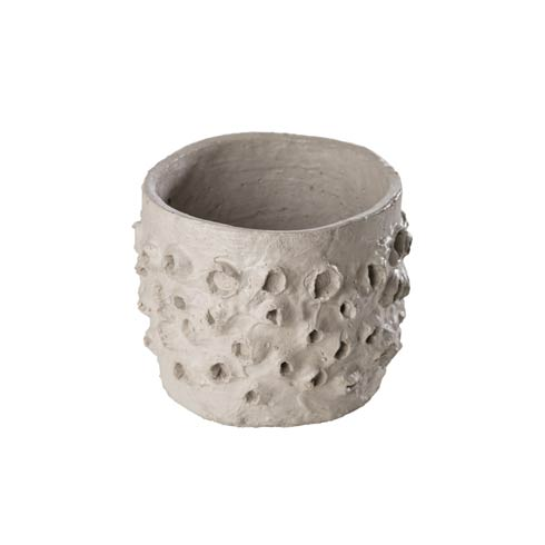 $22.00 Textured Cement Pot, Small