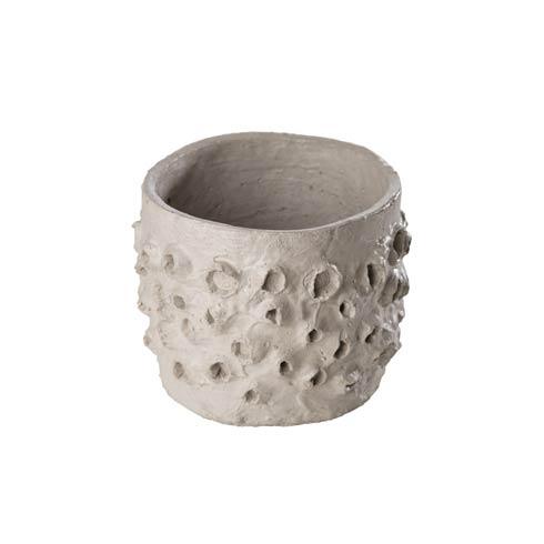 $26.00 Textured Cement Pot, Large
