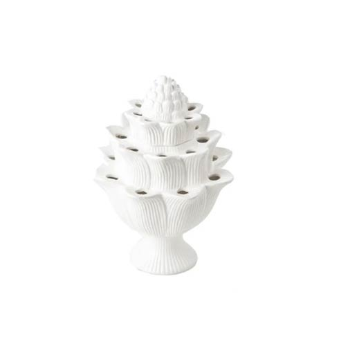 $48.00 White Artichoke Tulipiere, Small