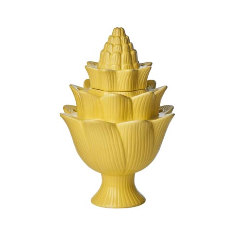 $53.00 Yellow Artichoke Tulipiere, Small