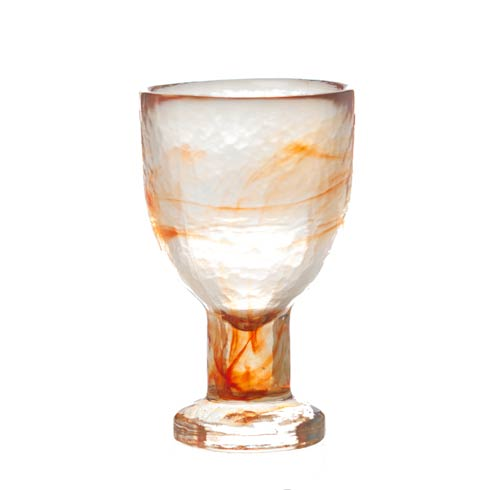 $38.00 White Wine Glass, Tangerine, Set Of 4
