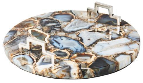 $324.00 Round Multicolor Agate Tray