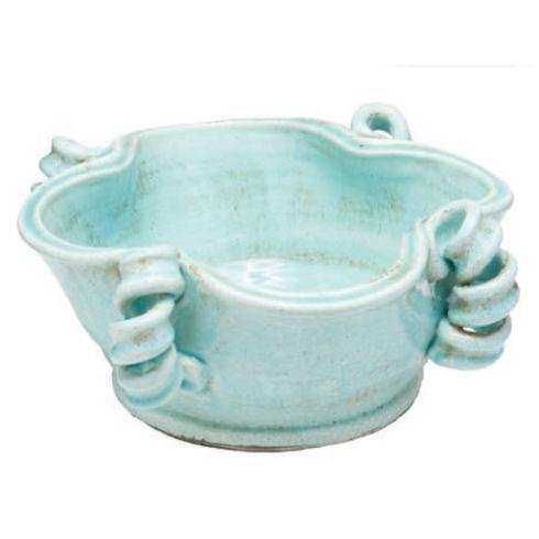 $134.00 Light Aqua Centerpiece Bowl