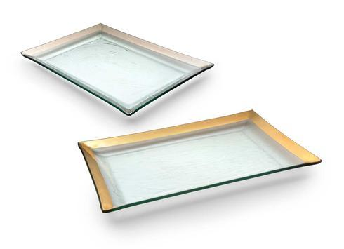 "Annieglass  Roman Antique 14 1/2  x 10"" martini tray $179.00"