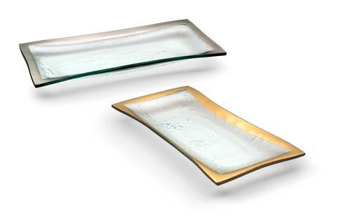 "Annieglass  Roman Antique 11 x 5"" olive tray $76.00"