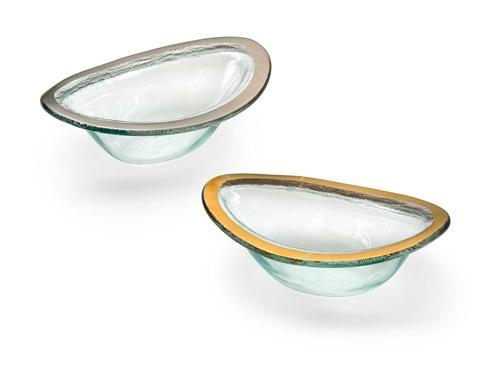 "Annieglass  Roman Antique 7 1/4 x 5"" sauce bowl $63.00"