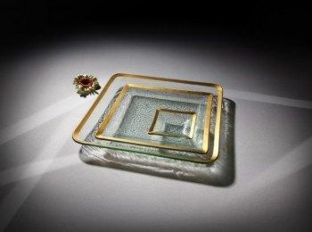 "Annieglass  Roman Antique 5"" small square dish $53.00"