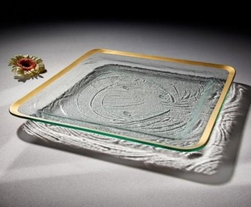 "Annieglass  Roman Antique 15 3/4"" large square tray $195.00"