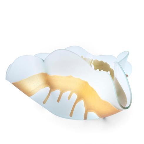 Annieglass  Sculpture Splatter Sculpture - large frosted with gold $368.00