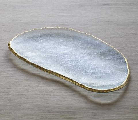 "Annieglass  Edgey 15 3/4"" large cheese slab $221.00"