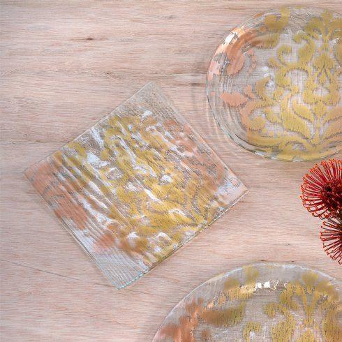 """Annieglass  Bali 11"""" square plate $92.00"""