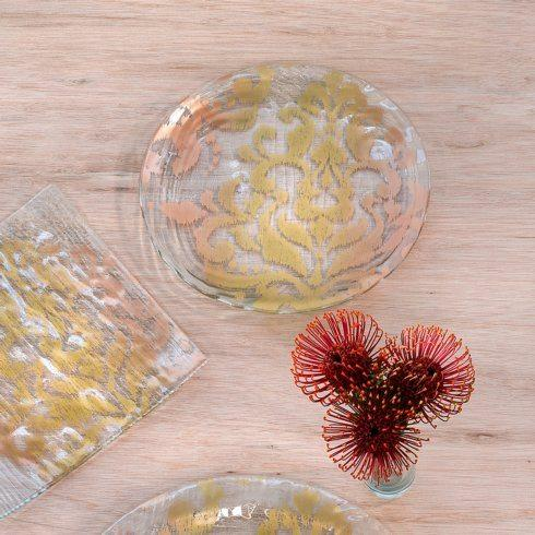 """Annieglass  Bali 12"""" round plate $101.00"""