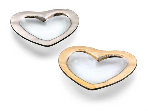 "Annieglass  Hearts 8"" heart bowl $74.00"