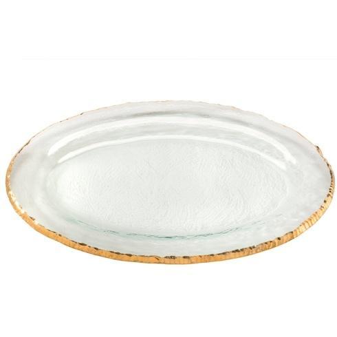 "Annieglass  Edgey 17 x 11"" large oval platter $294.00"