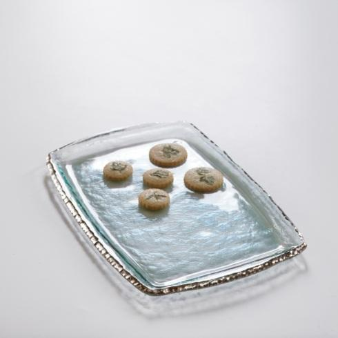 "Annieglass  Edgey 17 1/4 x 11 1/2"" martini tray $294.00"
