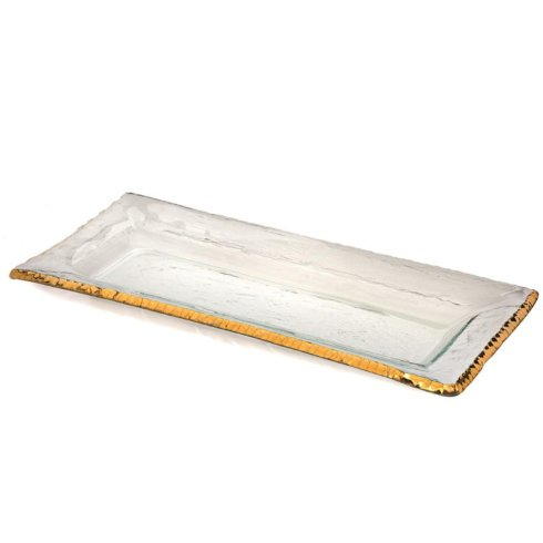 "Annieglass  Edgey 17 1/2 x 8"" rectangular tray $263.00"