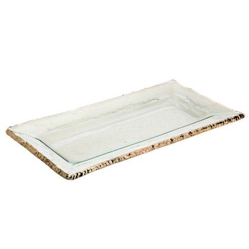 "Annieglass  Edgey 17 1/2 x 8"" rectangular tray $263.00"