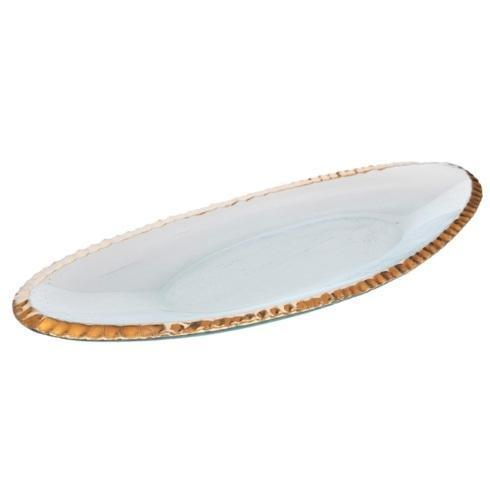 "Annieglass  Edgey 6 ¼ x 16 ½"" oblong tray  $189.00"