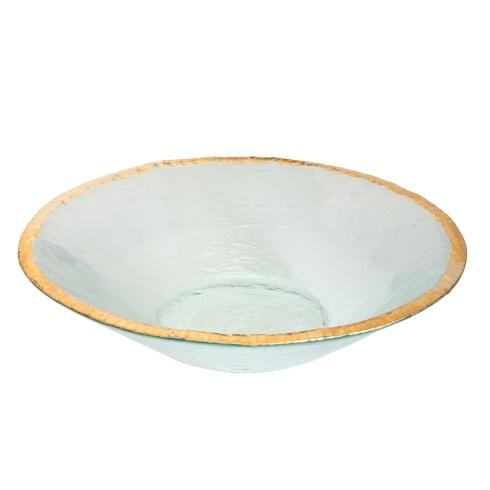 "Annieglass  Edgey 13 1/2"" round bowl $305.00"