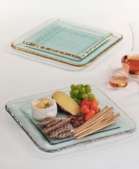"Annieglass  Edgey 15 1/4"" large square platter $336.00"
