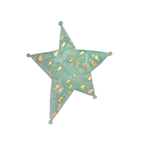 """$71.00 11 x 9"""" holiday star - gold"""