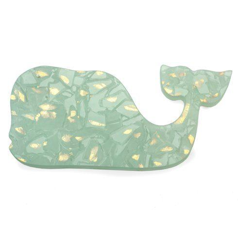 "Annieglass  Elements 6 x 14"" Whale - gold $97.00"