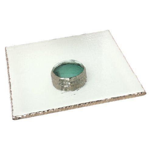 "Annieglass  Edgey 14 x 14"" square pedestal stand $410.00"